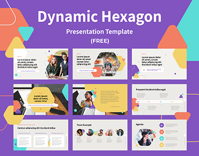 Dynamic Hexagon PPT Template