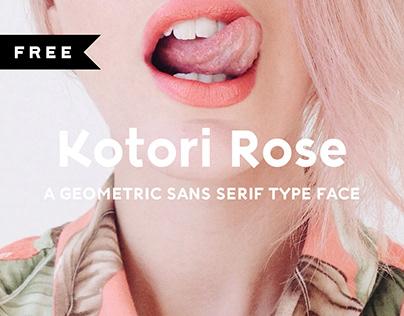 FREE | Kotori Rose Typeface