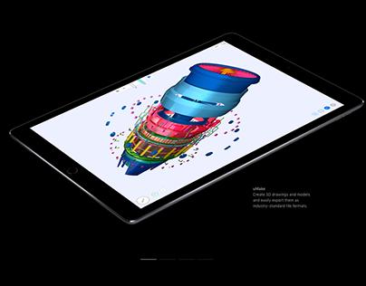 uMake Jet Engine (Featured on iPad Pro Website)