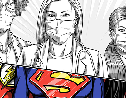 COVID-19 - Doctors Superheroes
