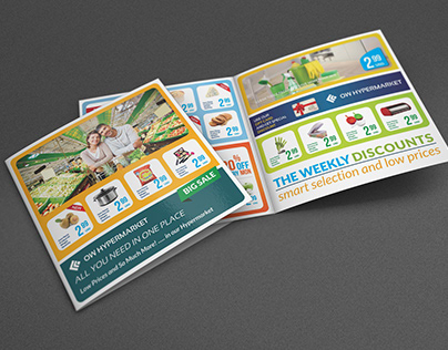Supermarket Products Catalog Bi-Fold Brochure Vol.4
