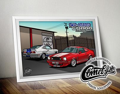 Mustang Cobra II '77 •Two-Headed Cobra•