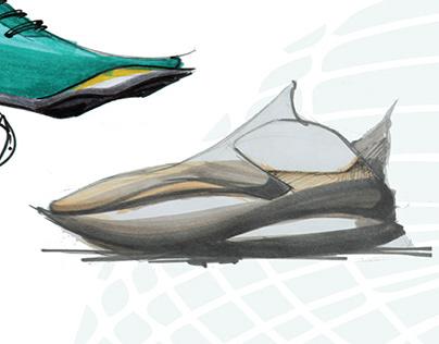 Gravity molding. Shoe design.