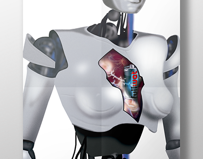 Ilustración digital Cyborg