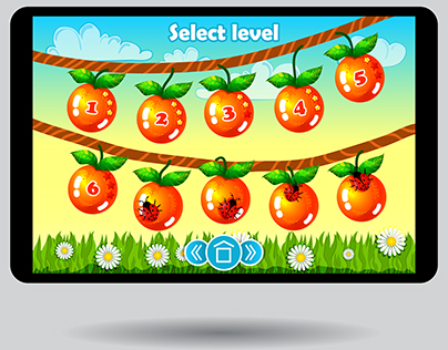 Simple game screen interface