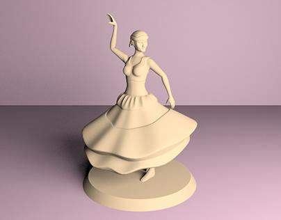 Tanoora Dancer for 3D print