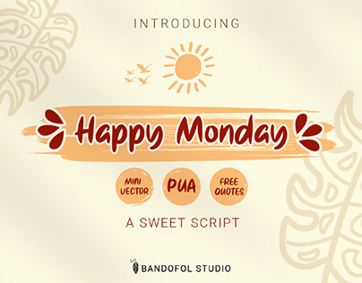 FREE | Happy Monday Cute Font