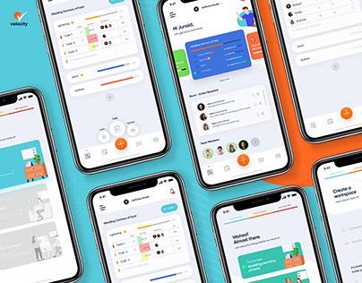 Velocity | Event Management Application Ui UX design