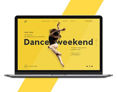 Dance classes promotional website