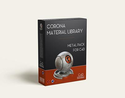 Corona material library Cinema 4D - Metal -