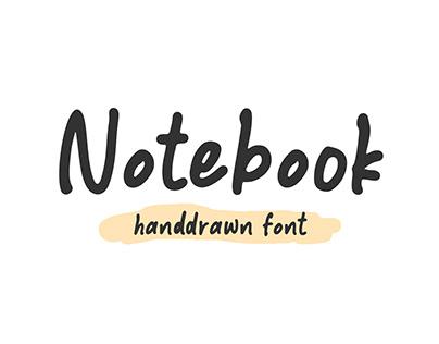 Notebook – Handdrawn Font