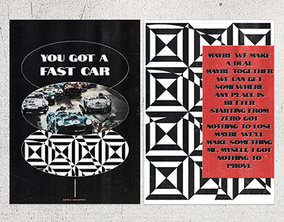 Posters design / Fast car - Tracy Chapman