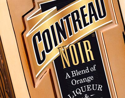 Cointreau Noir liqueur. Logo and packaging design.