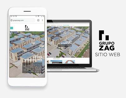 Sitio web institucional - Grupo Zag