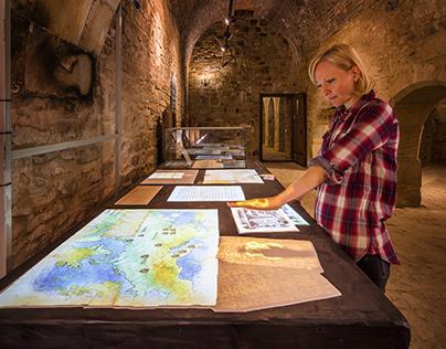 Suceava Fortress interactive exhibition design