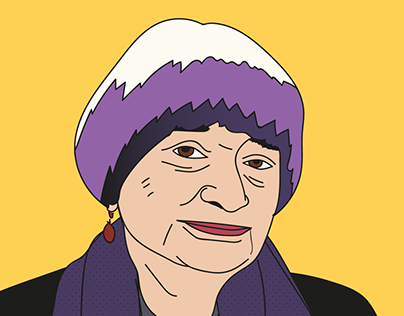 Agnès Varda portrait illustration.