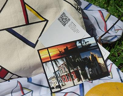 Bolsa de praia/canga/cartão postal para Antonina