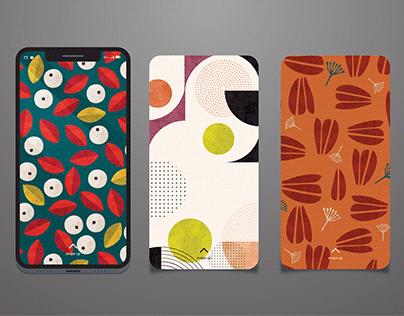 Repeating Pattern Phone Wallpapers