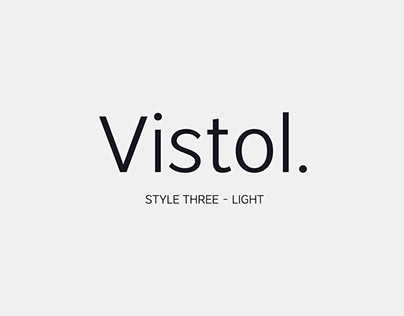 Free Vistol Sans Serif Font Family