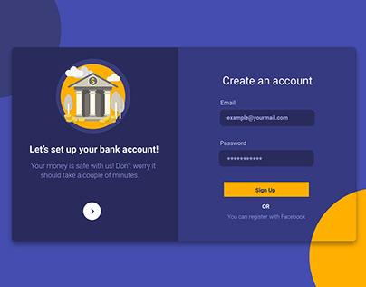 Bank Register Form