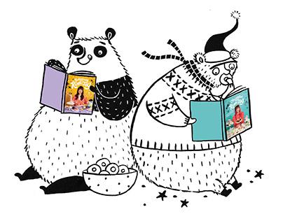 Spot illustrations for Baking/Christmas with Kim-Joy