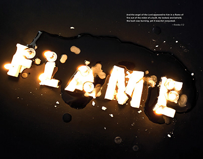 Flame // Type Experimental Poster