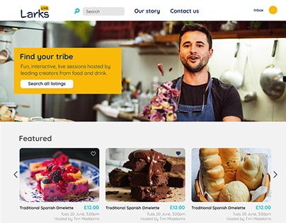 Larks Live; Logo and brand development