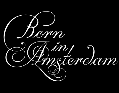 Born in Amsterdam lettering