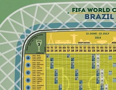 Brazil World Cup 2014 Calendar