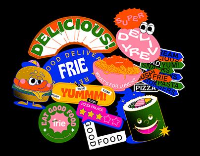 Frie Sticker Illustration