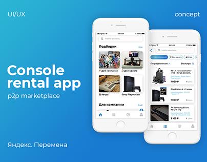P2P Marketplace App Concept