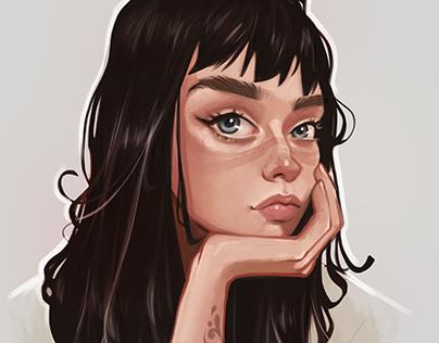 portrait , steps tutorial