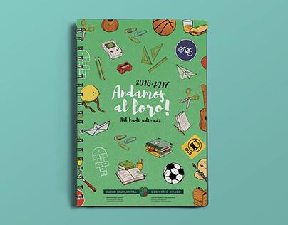 Agenda escolar: Andamos al loro (2016 · 2017)