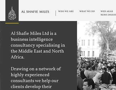Al Shafie Miles Website: responsive web design