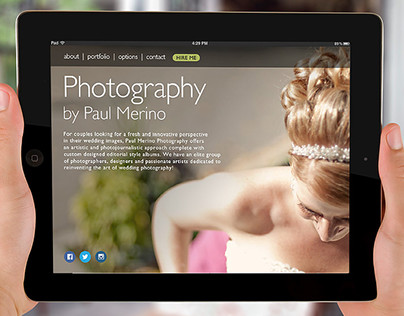 UX design concept for photography client