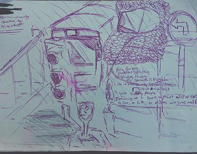 Bullring Bus Sketches + Kings Heath