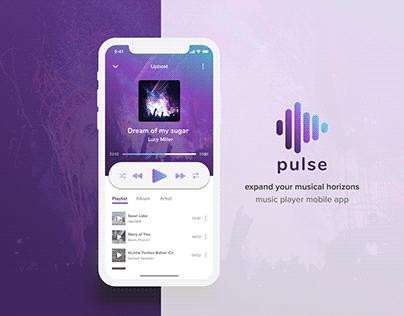 pulse - music player mobile app | UI & Visual Design
