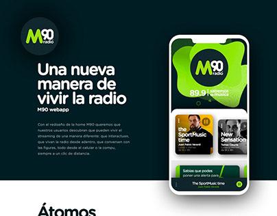 M90 Radio - ux/ui en @ecloud