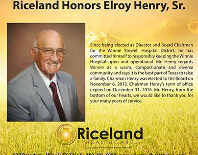 Riceland Ad-Elroy Henry, Sr.