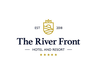 The River Front Hotel and Resort Logo Design