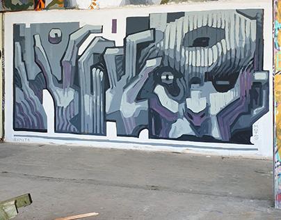 Mural in Teufelsberg – Berlin
