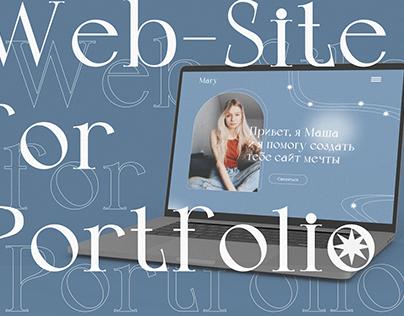 Web-site for Portfolio | Mary