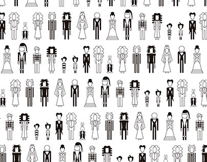 Tim Burton movies pictograms