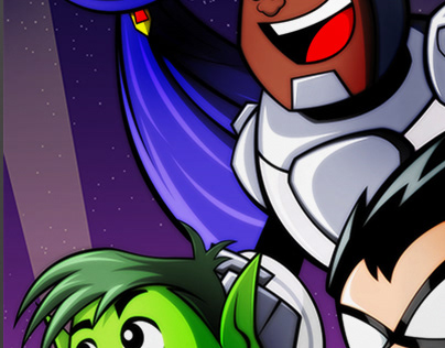 TEEN TITANS GO! TO THE MOVIES ART PRINT