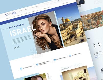 Holysands website design