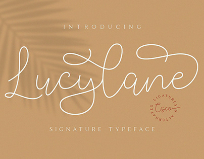 Lucylane - Signature Typeface (Free Download)