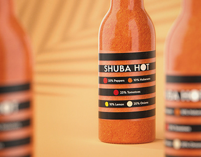 Shuba Hot – hot sauce package design
