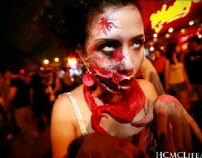 Make up devil (Halloween , Vietnam 2015)
