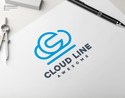 Cloud Line Awesome Logo