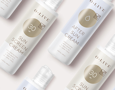 O.LIVE Suncare / Packaging & Communication
